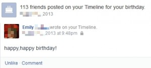 FB Birthday Greetings