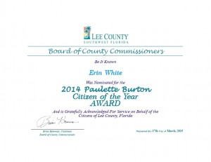 2014 Citizen of the Year Award