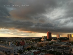 Downtown Fort Myers from the rooftop bar at Hotel Indigo | © 2015 Erin White All Rights Reserved